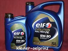 7 ltr. Elf evolution Full-Tech FE 5W-30 Motoröl für Renault ( DPF ) ÖL RN 0720