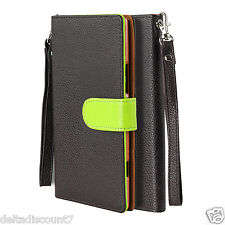 For Nokia Lumia 1520 PU Leather  Wallet Flip Cover Brown Case
