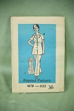 Vintage Original Let's Sew Sewing Pattern Woman Dress Tunic Pant Size 38 4678