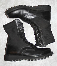 U.S. MILITARY BOOTS Ripple Soles Tactical Black Leather & Nylon Men's Size 8 R