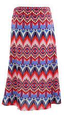 SALE! Blue/RED/Pink Chevron Stripe Fold Over Maxi Skirt - 2X