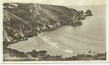 Sepia Postcard of Petit Port Bay Guernsey
