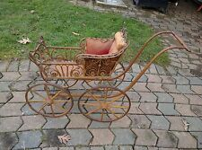 Antique Baby Doll Carriage Stroller Vintage Collectable