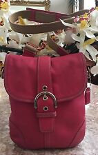 Coach Soho Buckle Flap Duffle Pink Leather Shoulder CrossBody Bag