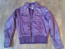 Roxy Women's Purple Polyester Puffer Winter Spring Jacket Coat Zip M EUC