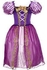 Long Hair Princess Rapunzel Girl Skirt Child Queen Party Costume Fancy Dress 130