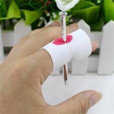 Fake Blood Manmade Nail Through Finger W/ Bandage Halloween Trick Pros NEW.
