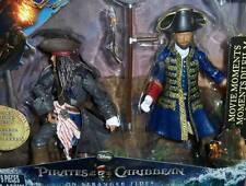 "PIRATES OF CARIBBEAN POTC~ON STRANGER TIDES 6"" Jack Sparrow Captain Barbossa SET"
