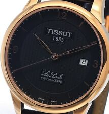 NEW MENS ROSE GOLD TISSOT LE LOCLE COSC 25 JEWEL AUTOMATIC T006.408.36.057.00