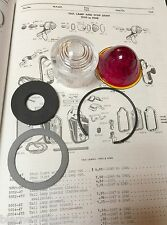 Harley Knucklehead UL VL JD Tail Lamp Lens Kit 1925-1938; 5054-20 5065-25