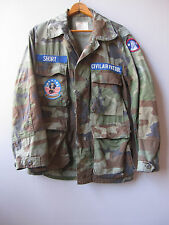 Vintage Camo Jacket Shirt Camouflage Civil Air Patrol Faded Short Small