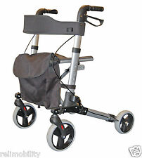 Roma Medical City Walker Lightweight Folding Height Adjustable Rollator