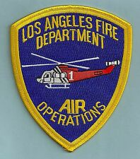 LOS ANGELES CITY CALIFORNIA FIRE DEPARTMENT AIR OPERATIONS HELICOPTER PATCH