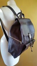 CALVIN KLEIN BROWN LEATHER DRAWSTRING BACKPACK SHOULDER BAG