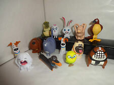 THE SECRET LIFE OF PETS CAKE TOPPERS 14 PLASTIC FIGURES BRAND NEW FREE P+P