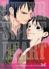 One Piece YAOI Doujinshi Dojinshi Comic Trafalgar Law x Luffy Bitter Sweet Heart