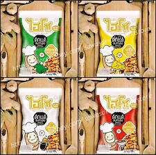 4 FLAVORS OF THAI FRIED CRISPY CHRYSALIS PUPA EDIBLE INSECT LOCAL PROTEIN SNACK