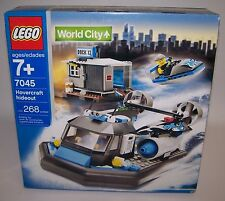 Lego 7045 World City Hovercraft Hideout Dock 13 Jet Boats 268 pcs NIB Sealed