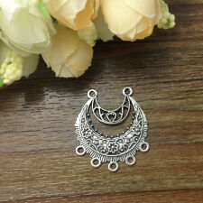 Tibetan Silver Charm 4pcs Earring Connectors 29*33mm Jewelry Making New arrival