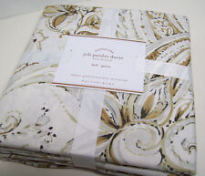Pottery Barn Multi Colors Brown Joli Jolie Paisley Full Queen Duvet Cover New