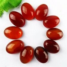 wholesale 10PCS Beautiful oval red coffee Agate CAB cabochon 18x13x6mm BA3881