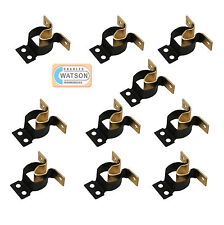10 x Brass GRIPPER CATCH Boat Caravan Door Cabinet/Cupboard Metal Spring Latch
