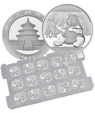 2017 China 10 Yuan 30g Silver Panda - Sheet of 15 (Mint Caps) PRESALE SKU43870