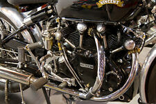 VINCENT BLACK SHADOW  MOTORCYCLE ENGINE LARGE POSTER 20 X 30 DIGITAL PHOTO