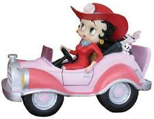 Betty Boop STATUE DRIVING PINK COMIC CAR (RETIRED)
