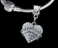 Firefighter Charm  Fits European style Bracelet  Fireman charm Firefighter gift
