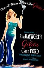 Gilda Vintage Movie Poster Lithograph Rita Hayworth Hand Pulled S2 Art Ltd Ed