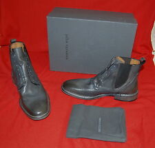 NIB JOHN VARVATOS COLLECTION Norvegian Laceless Chelsea lead leather boots 8/41