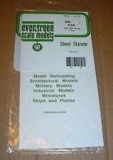 "Evergreen Styrene Sheet Plastic .040 White Scratch Building 12"" x 6"""