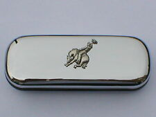 RODEO horse and rider  brand new chrome glasses case great gift! Christmas
