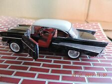 1:43 FRANKLIN MINT 57' CHEVY BEL AIR 2 DOOR SPORT COUPE WITH ORIGINAL PKG.