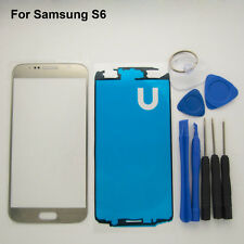 Touch screen replacement front glass outer lens cover gold for Samsung Galaxy S6