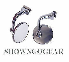 """3"""" Peep Mirror SET PAIR Ford Chev HotRod roadster hiboy coupe 32 33 34 Holden"""