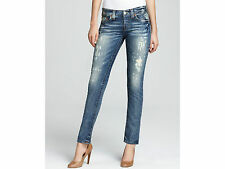 NWT TRUE RELIGION JEANS Sz24 DISTRESSED BRIANNA SLIM BOYFRIEND BLACK WATER $268.