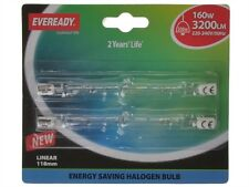 Eveready s5161 118mm lineare ECO Lampadina Alogena 240V 160W (200W) carta di 2
