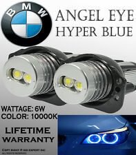 JDM BMW ANGEL EYE E90,E91 HEAD LIGHT HALO RING LED BULBS 10K BLUE FAST SHIPS1118