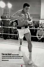 MUHAMMAD ALI FAST 24x36 poster  SONNY LISTON BOXING CHAMPION CASSIUS CLAY ICON!!