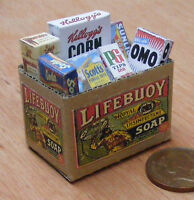 1:12 Full Cardboard Lifebuoy Grocery Box Dolls House Miniature Kitchen Accessory