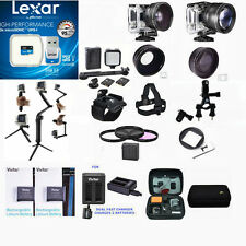 EXTREME 64GB FULL ACCESSORY KIT FOR GOPRO HERO4 HERO 4 BLACK AND SILVER EDITION