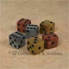 New 6 Olympic Gold Silver Bronze Dice Set D&D RPG Game D6 16mm 5/8 inch Koplow