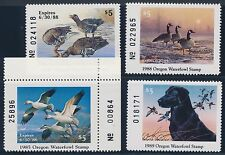 #Or2 / Or6 (4) Diff Mint Nh Oregon State Duck Stamps Brookman Cv $99 Bt3959