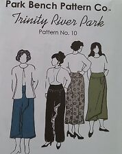 Park Bench Pattern CO.  PANTS THAT LOOK LIKE A SKIRT SIZE 12 - 18