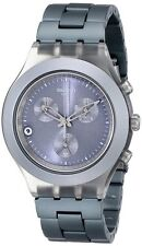 New Swatch Irony Chronograph Full Blooded Smoky Gray Watch Date SVCM4007AG $160
