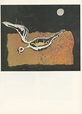 "1976 Vintage SALVADOR DALI ""BIRD"" LOVELY Color Art Print Lithograph"