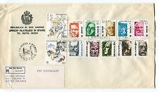1982 FDC San Marino Pionieri della scienza Europa RACCOMANDATA First Day Cover