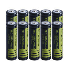 10X BRC 18650 4200mAh Li-ion Rechargeable Battery 3.7V for Flashlight torch